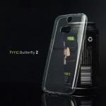 เคส HTC Butterfly 2 เคสนิ่ม Super Slim TPU บางพิเศษ พร้อมจุด Pixel ขนาดเล็กด้านในเคสป้องกันเคสติดกับตัวเครื่อง สีใส