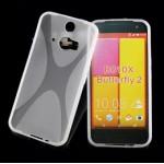 เคสยาง TPU Two-tone สีขาวใส HTC Butterfly 2