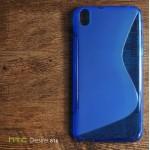 เคส HTC Desire 816G (816) เคสยางนิ่ม TPU Two-Tone สีน้ำเงินใส