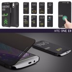 เคส HTC one E8 Full Window Flip Case เคสฝาพับรองรับระบบ view flip cover