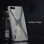 เคส Huawei Honor 6 Plus เคสนิ่ม Silicone แบบด้าน รูปตัว X สีดำใส