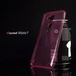 เคส Huawei Ascend Mate 7 l เคสนิ่ม Super Slim TPU บางพิเศษ พร้อมจุด Pixel ขนาดเล็กด้านในเคสป้องกันเคสติดกับตัวเครื่อง สีชมพูใส