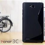 เคส Huawei Honor 3C ซิลิโคน TPU Two-Tone สีดำทึบ