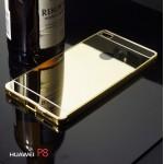 เคส Huawei P8 l เคสฝาหลัง + Bumper (แบบเงา) ขอบกันกระแทก สีทอง