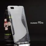 เคส Huawei P8 Lite เคสนิ่ม Silicone แบบ ทูโทน สีขาวใส