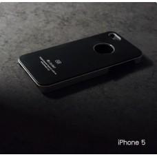 เคส iPhone 5 / 5s เคสแข็งสีเรียบ สีดำ / ขอบสีเงิน