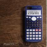 เคส iPhone 5 / 5S เคส TPU พิมพ์ลาย เครื่องคิดเลข สีน้ำเงิน