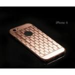 เคส iPhone 6 / 6s l เคสฝาหลัง + Bumper (แบบเงา) ลายตาราง ขอบกันกระแทก สีโรสโกลด์