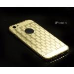 เคส iPhone 6 / 6s l เคสฝาหลัง + Bumper (แบบเงา) ลายตาราง ขอบกันกระแทก สีทอง