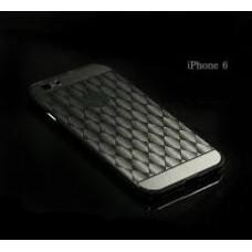 เคส iPhone 6 / 6s l เคสฝาหลัง + Bumper (แบบเงา) ลายตาราง ขอบกันกระแทก สีสเปซเกรย์