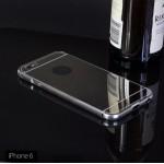 เคส iPhone 6 / 6S (4.7 นิ้ว) l เคสฝาหลัง + Bumper (แบบเงา) ขอบกันกระแทก สีเงิน