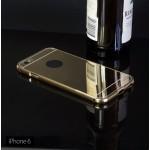 เคส iPhone 6 / 6S (4.7 นิ้ว) l เคสฝาหลัง + Bumper (แบบเงา) ขอบกันกระแทก สีทอง
