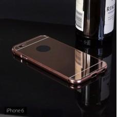 เคส iPhone 6 / 6S (4.7 นิ้ว) l เคสฝาหลัง + Bumper (แบบเงา) ขอบกันกระแทก สีโรสโกลด์