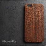 เคส iPhone 6 Plus (5.5 นิ้ว) เคสแข็งลายไม้แกะสลัก แบบที่ 1
