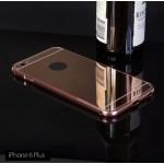 เคส iPhone 6 Plus (5.5 นิ้ว) l เคสฝาหลัง + Bumper (แบบเงา) ขอบกันกระแทก สีโรสโกลด์