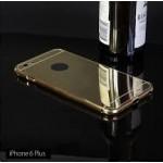 เคส iPhone 6 Plus (5.5 นิ้ว) l เคสฝาหลัง + Bumper (แบบเงา) ขอบกันกระแทก สีทอง