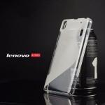 เคส Lenovo A7000 / A7000+ / K3NOTE เคสนิ่ม SILICONE แบบทูโทน สีขาวใส