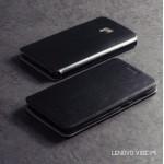 เคส Lenovo Vibe P1 เคสฝาพับบางพิเศษ พร้อมแผ่นเหล็กป้องกันของมีคม พับเป็นขาตั้งได้จาก Mofi สีดำ