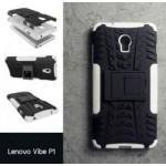 เคส Lenovo Vibe P1 กรอบบั๊มเปอร์ กันกระแทก Defender สีขาว (เป็นขาตั้งได้)