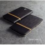 เคส Lenovo Vibe S1 เคสฝาพับหนัง PVC มีช่องใส่บัตร สีดำ