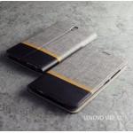 เคส Lenovo Vibe S1 เคสฝาพับหนัง PVC มีช่องใส่บัตร สีเทา