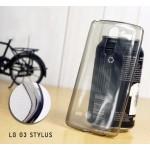 เคส LG G3 Stylus | เคสนิ่ม Super Slim TPU บางพิเศษ พร้อมจุด Pixel ขนาดเล็กด้านในเคสป้องกันเคสติดกับตัวเครื่อง ดำ