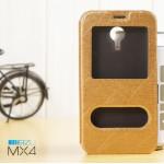 เคส Meizu MX4 l เคสฝาพับ เป็นขาตั้งได้ พร้อมช่องรูดรับสาย สีทอง