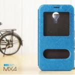 เคส Meizu MX4 l เคสฝาพับ เป็นขาตั้งได้ พร้อมช่องรูดรับสาย สีน้ำเงิน