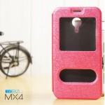 เคส Meizu MX4 l เคสฝาพับ เป็นขาตั้งได้ พร้อมช่องรูดรับสาย สีชมพู