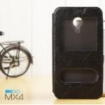 เคส Meizu MX4 l เคสฝาพับ เป็นขาตั้งได้ พร้อมช่องรูดรับสาย สีดำ