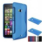 เคส Nokia Lumia 535 l เคสนิ่ม TPU ทูโทน น้ำเงินใส
