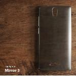เคส OPPO Mirror 3 เคสแข็งกึ่งโปร่งใส (สีดำใส)