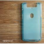 เคส OPPO N3 l เคสยาง TPU สีเรียบสีฟ้า (ป้องกันรอยนิ้วมือบนตัวเคส)