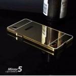 เคส OPPO Mirror 5 l เคสฝาหลัง + Bumper (แบบเงา) ขอบกันกระแทก สีทอง