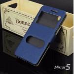 เคส Oppo Mirror 5 เคสฝาพับ พร้อมช่องรูดรับสาย สีน้ำเงิน