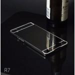 เคส Oppo R7 Lite (Oppo R7) l เคสฝาหลัง + Bumper (แบบเงา) ขอบกันกระแทก สีสเปซเกรย์