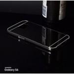 เคส Samsung Galaxy S6 l เคสฝาหลัง + Bumper (แบบเงา) ขอบกันกระแทก สีสเปซเกรย์
