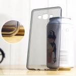 เคส Samsung Galaxy A7 เคสยางนิ่ม TPU แบบใส พร้อมจุด Pixel ขนาดเล็กด้านในเคสป้องกันเคสติดกับตัวเครื่อง ดำ
