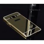 เคส Samsung Galaxy A7 l เคสฝาหลัง + Bumper (แบบเงา) ขอบกันกระแทก สีทอง
