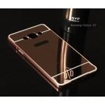 เคส Samsung Galaxy A7 l เคสฝาหลัง + Bumper (แบบเงา) ขอบกันกระแทก สีโรสโกลด์
