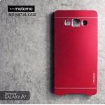 เคส Samsung Galaxy A7 Metal Case (เคสอลูมิเนียม) จาก Motomo สีแดง