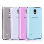 เคส Samsung Galaxy Note 4 l เคสนิ่ม Super Slim TPU บางพิเศษ พร้อมจุด Pixel ขนาดเล็กด้านในเคสป้องกันเคสติดกับตัวเครื่อง สีฟ้า