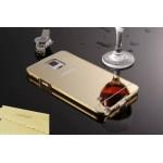 เคส Samsung Galaxy Note4 l เคสฝาหลัง + Bumper (แบบเงา) ขอบกันกระแทก สีทอง