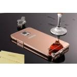 เคส Samsung Galaxy Note4 l เคสฝาหลัง + Bumper (แบบเงา) ขอบกันกระแทก สีโรสโกลด์