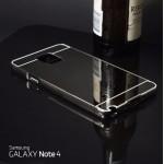 เคส Samsung Galaxy Note4 l เคสฝาหลัง + Bumper (แบบเงา) ขอบกันกระแทก สีเทาสเปซเกรย์