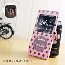 เคส Samsung Galaxy Note4 เคสฝาพับผิวกันลื่น เปิด-ปิด อัตโนมัติ (รับสายโดยไม่ต้องเปิดฝา) ลายที่ 4