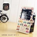 เคส Samsung Galaxy Note4 เคสฝาพับผิวกันลื่น เปิด-ปิด อัตโนมัติ (รับสายโดยไม่ต้องเปิดฝา) ลายที่ 5