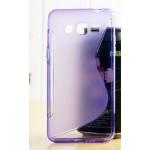 เคสยาง TPU 2-Tone สีม่วงใส Samsung Galaxy Grand Prime