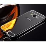 เคส Samsung Galaxy Grand Prime l เคสฝาหลัง + Bumper (แบบเงา) ขอบกันกระแทก สีสเปซเกรย์