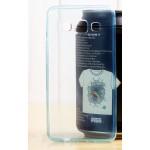 เคส Samsung Galaxy A3 l เคสนิ่ม Super Slim TPU บางพิเศษ พร้อมจุด Pixel ขนาดเล็กด้านในเคสป้องกันเคสติดกับตัวเครื่อง ฟ้า